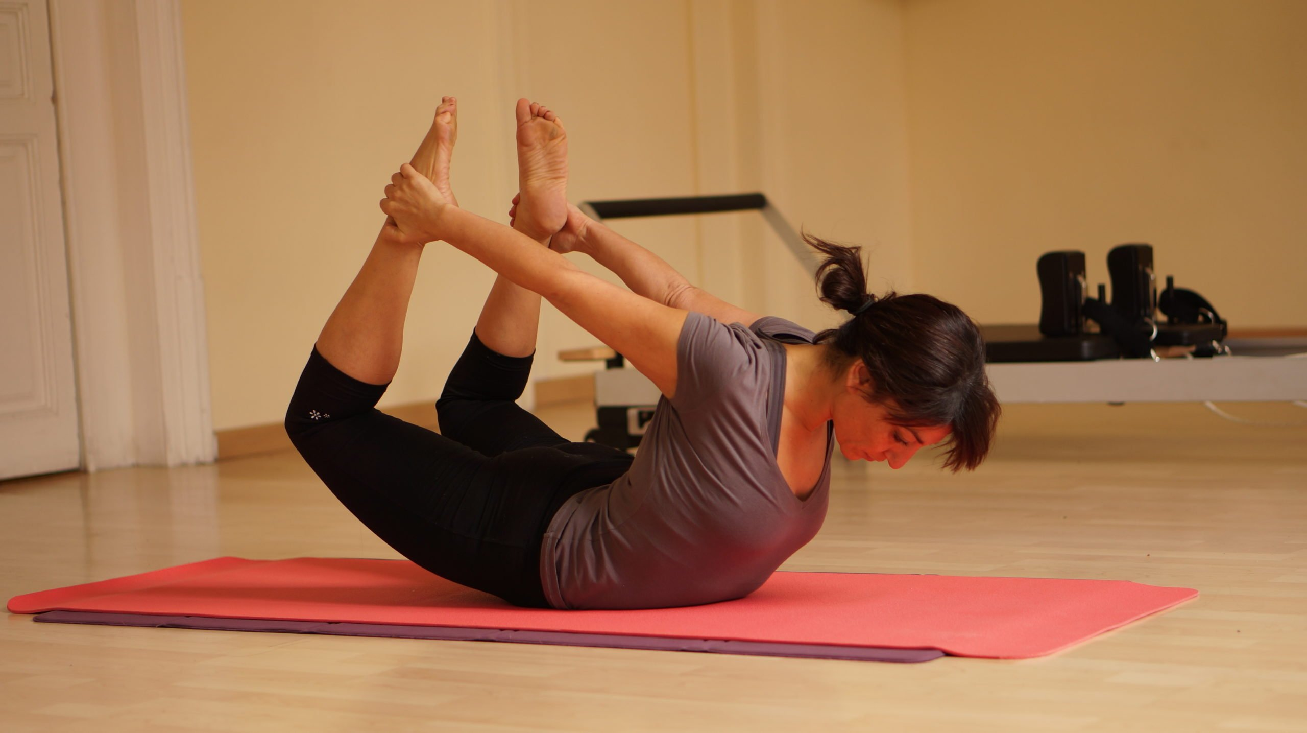 pilates stretch for the hips and chest