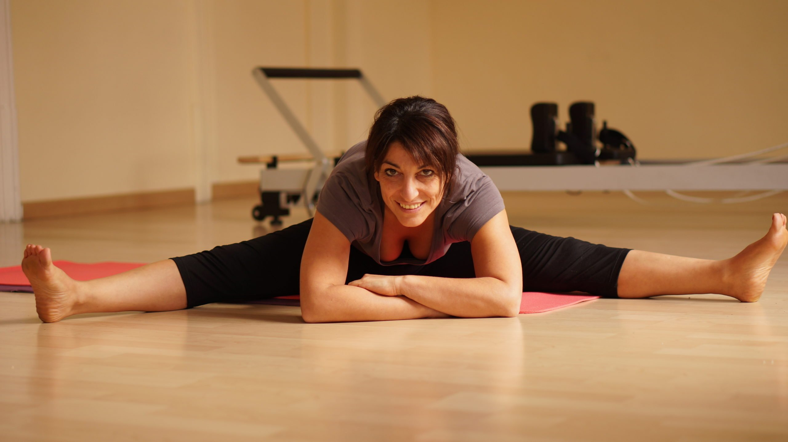 pilates hip stretching exercise